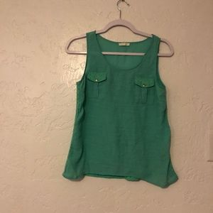Mine, sleeveless blouse, size medium